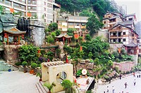 Hongya Cave Scenic Area, Yuzhong District, Chongqing, China