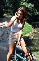 Girl talking on mobile