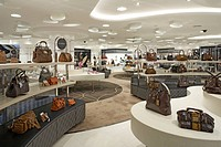 HARVEY NICHOLS DEPARTMENT STORE INTERIOR OF THE MAIN WOMENS ACCESSORIES DEPARTMENT ON THE LOWER GROUND FLOOR