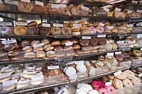 England, London, Camden, Camden Lock, Donuts Display