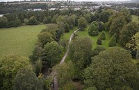 High angle view of a garden, Blarney Castle, Blarney, County Cork, Republic of Ireland