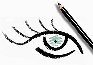 Eyeliner drawing of eye