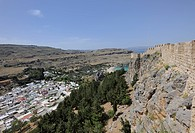 Acropolis, Lindos, Rhodes, Greece, Europe