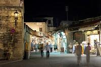 Odos Sokratous, a shopping street, Platia Ippokratou, Rhodes Town, Rhodes, Greece, Europe