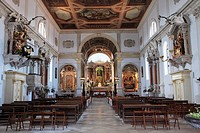 Slovenia, Piran, St George Cathedral, interior