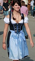 Germany, Bavaria, Munich, Oktoberfest, people in traditional dress