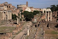 Roman Forum and Colosseum, Rome, Italy