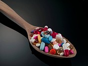 Spoon full of pills