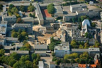 Aerial photo, former Historical City Archive, subway construction site, Cologne, North Rhine_Westphalia, Germany, Europe