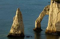 Falaise d'aval, sea cliff, Étretat, Côte d'Albatre, Haute-Normandie, Normandy, France, Europe