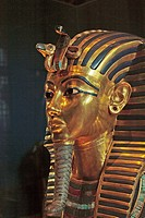 Death mask of Tutankhamun. Egyptian Museum. Cairo. Egypt