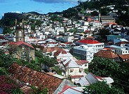 View of St. Georges  , Grenada