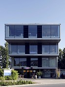 Tiered office building in the business park Stadtkrone Ost, Dortmund, North Rhine_Westphalia, Germany, Europe
