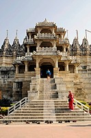 Seth Anandji Kalayanji Pedhi, Jain temple complex, entrance to Adinatha Temple, Ranakpur, Rajasthan, North India, India, South Asia, Asia