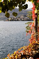Orta San Giulio, Lago d'Orta, island of San Giulio, pilgrims destination, Novara, Piedmont, Italy, Europe