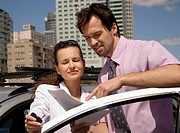 Couple at the car