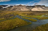 Landscape in the Skaftafell National Park, Iceland, Europe