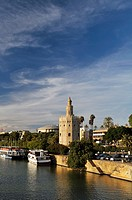 Torre del Oro Gold Tower on the Guadalquivir River, Sevilla, Andalucía, Spain, Europe october-2009