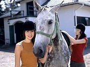 Girls with horse