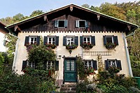Holiday villa in the Salzburg country house style, Mattsee, Flachgau, Salzburger Land region, Salzburg, Austria, Europe