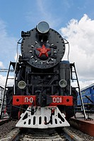 Soviet steam locomotive P_0001 Pobeda Victory, built in 1945