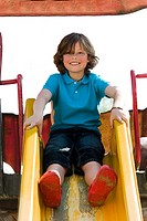 Young boy on the playground