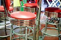 seats at soda fountain