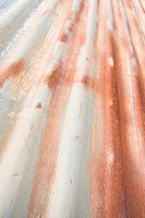 rusted corrogated metal wall