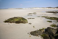 White sand Beach of Clachan Sands North Uist Western Isles Scotland