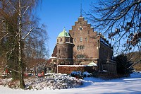 Winterly Wittringen Castle, Gladbeck, Ruhr area, North Rhine_Westphalia, Germany, Europe
