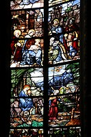 Stained glass window, Saint Etienne de Bourges Cathedral, Centre, France, Europe