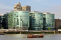 Modern office building on the south bank of the River Thames, London, England, United Kingdom, Europe