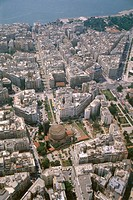 Aerial photograph of the Rotunda Thessaloniki in Greece