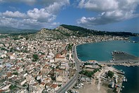 Aerial photograph of the Greek island of Zakinthos
