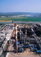 Aerial photograph of the Industrial area of Haifa