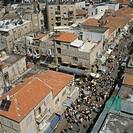 Aerial photograph of Mahaneh Yehuda market in modern Jerusalem