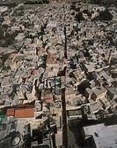 Aerial photograph of the Muslim quarter in the old city of Jerusalem