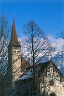 Photograph of a church in Switzerland