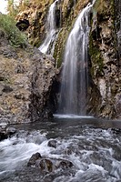 Engare Sero Waterfall at the Lake Natron, Tanzania, Africa