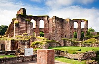Ruins of the Roman baths in Trier, Germany, Europe
