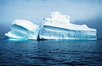 floe, in the Polar Sea.