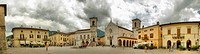 The main piazza in Norcia in the Sibillini Mountains in Umbria