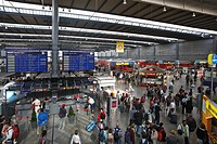 Central railway station, hall, German Rail, ICC, trains, traffic, Munich, Upper Bavaria, Bavaria, Germany, Europe