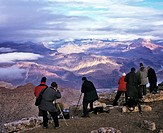 Grand Canyon, people with panoramic view, Colorado, Arizona, USA