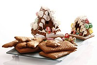 Ingredients for gingerbread houses, witch's houses
