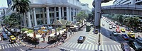 Road junction on Siam Square, Erawan Shrine, Silom, Sathon district, Bangkok, Thailand, Asia