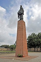 Memorial statue in the women´s concentration camp Ravensbrueck, Brandenburg, Germany, Europe