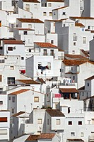 The white houses of Casares, one of the Pueblos Blancos in the province of Malaga, Andalusia, Spain, Europe