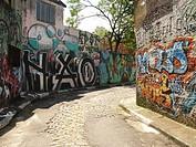 Graffiti wall, São Paulo, Brazil