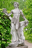 Statue of God Bacchus in the Koskovo Park, Kuskovo estate, Moscow, Russia